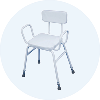 Perching Stool with Padded Back