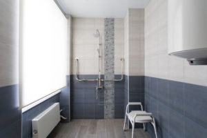installation of a level access shower
