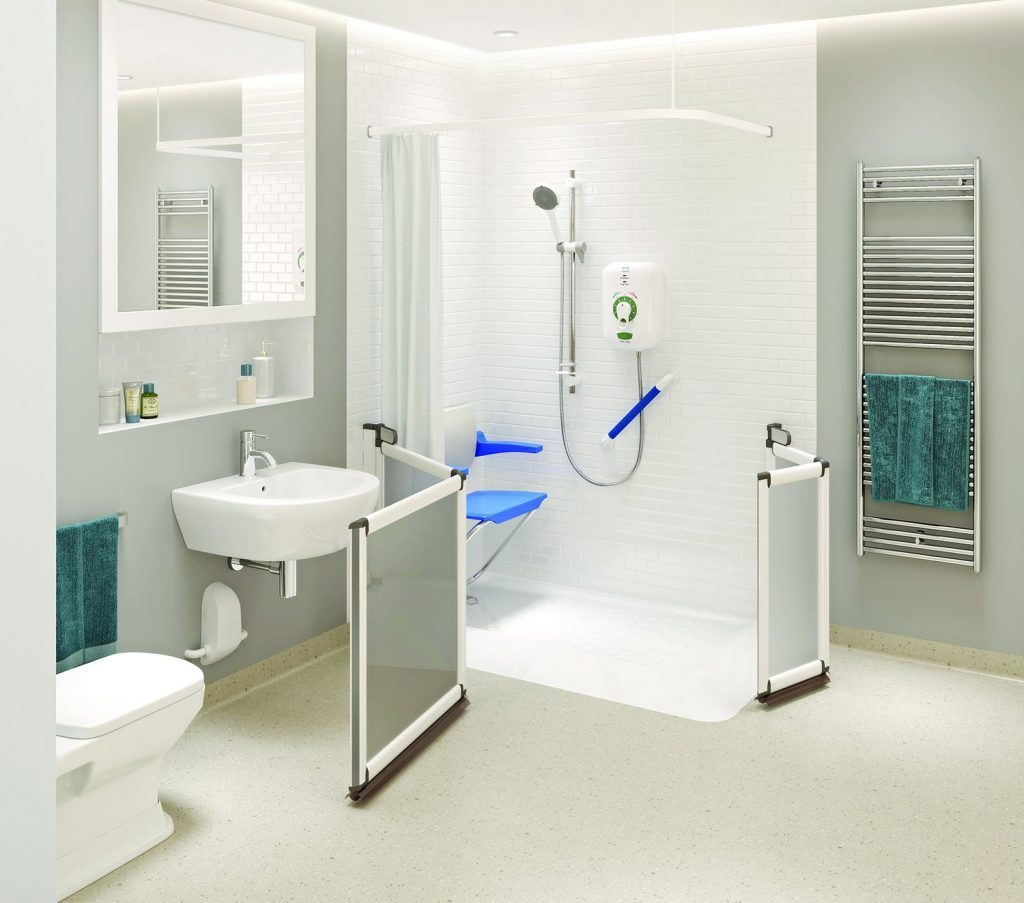 How to go from a bath to a walk-in disabled shower
