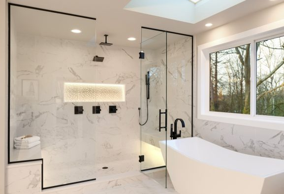 Level access & walk in showers